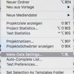 Scrivener Projekt Metadaten